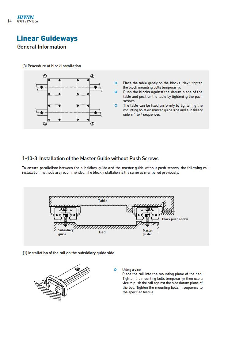 LINEAR GUIDES MOUNTING INSTRUCTION 02